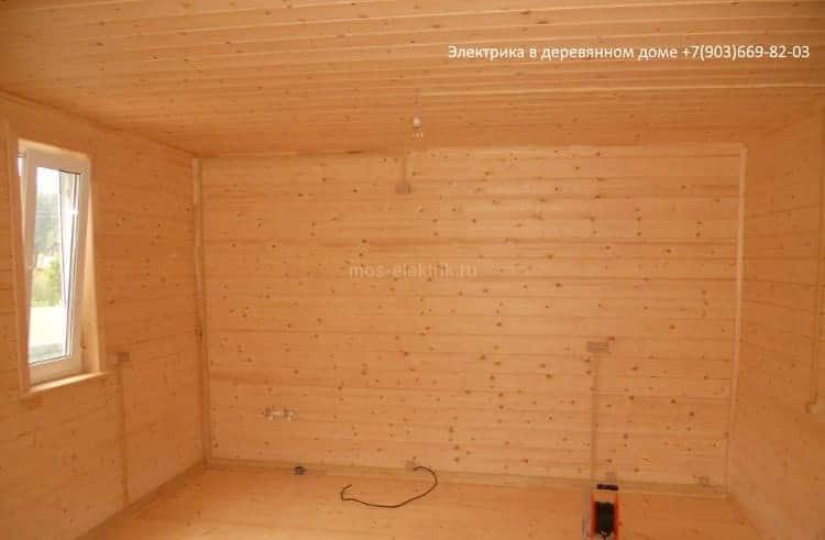 электрика в деревянном доме под ключ цена