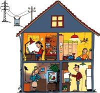 Электрика в загородный дом под ключ цена