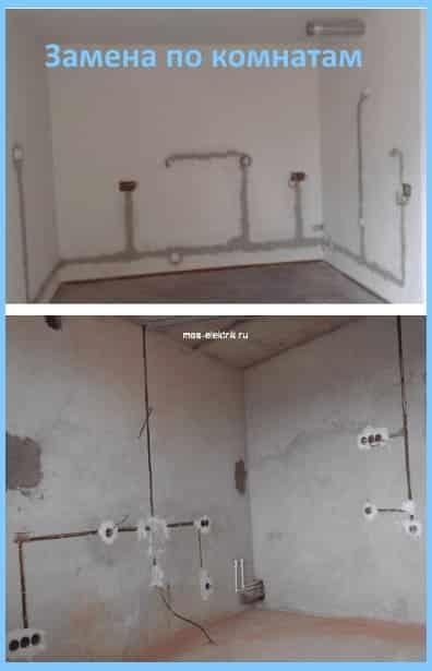 razvodka-elektriki-po-potolku-pod-natyazhnye